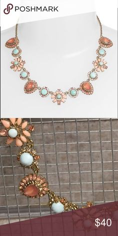 """Marchesa Jewel Frontal Necklace Twisted rope chain is the foundation for a romantic frontal necklace embellished with a mix of sparkling crystals, glossy jewels, and luminous glass pearls. 16"""" length, 3"""" extender, 3/4"""" width. Fold-over clasp. Worn once. ✨See listing for matching earrings✨ Marchesa Jewelry Necklaces"""
