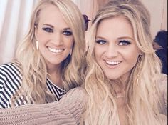 Carrie Underwood and Kelsea Ballerini they both are pretty!!