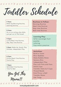 Make a toddler schedule today! - Make a toddler schedule today! Make a toddler schedule today! Toddler Learning Activities, Parenting Toddlers, Infant Activities, Parenting Advice, Parenting Classes, Gentle Parenting, Step Parenting, Peaceful Parenting, Parenting Styles