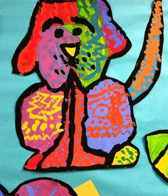 Paintbrush Rocket: 2nd Grade Romero Britto Cats and Dogs!