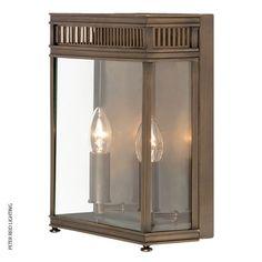 Holborn 2-Lamp Wall Lantern Dark Bronze, by the UK's Elstead Lighting #brasswalllight