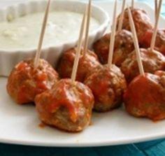 Blue Cheese Buffalo Meatballs