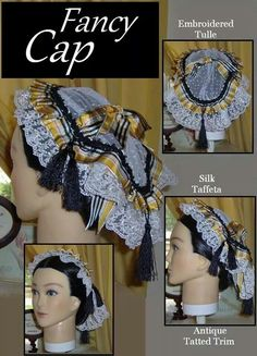 .Day Cap by Three Sisters Millinery!