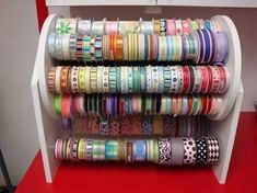 Love this idea for ribbon