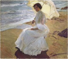 The clear colors of this painting project an inmense sense of sensibility between the artist and this painting. Sorolla painted this at his house in the Valencian sea in Spain.