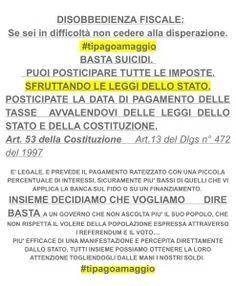 #tipagoamaggio » Salviamo gli Italiani