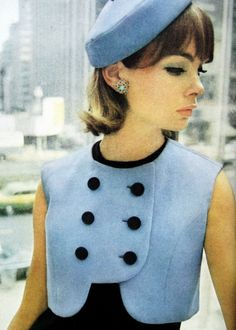 Jean Shrimpton photographed by David Bailey. Glamour - June 1963.