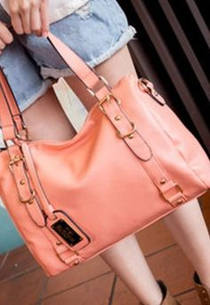 European Style Pure Candy Color Shoulder Bag Handbag #pink #candy #bag www.loveitsomuch.com