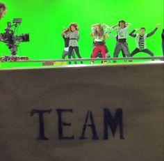 "Kenzie filming her new music video for ""I Gotta Dance"""