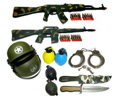 Dress Up Ultimate All-in-un officier de police Role Play Set for Kids Toy Gun Delux