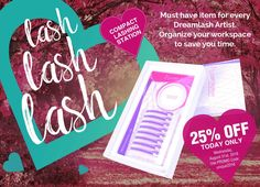 """This just in!  TODAY only, purchase the Compact Lashing Station for 25% off the original price using PROMO code: unique2016  This Compact Lashing Station is a must-have item for every Dreamlash Artist.  The dome shaped surface """"opens"""" your lash strips for easier pick-up and placement and it organizes your workspace to save you more time.  Go ahead and add this to your cart TODAY! http://dreamlash.net/product/compact-lashing-station/"""