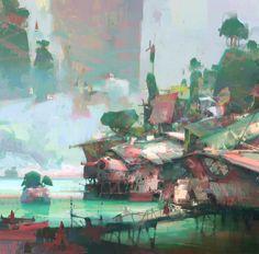 Swamp Village, Theo Prins on ArtStation at…