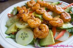 Spicy Grilled Shrimp Salad with Sweet Ginger Lime Dressing