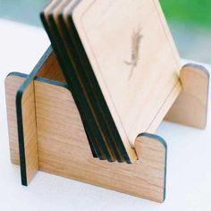 Coaster Holder Stand - Laser Cut Wood