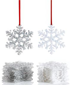 Holiday Lane Box of 12 Snowflake Ornaments - Christmas Ornaments - For The Home - Macy's