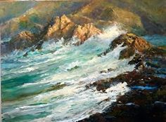 Dellinger's acrylic seascape reminds us of nature's timeless beauty. Seascape Paintings, Nature Paintings, Landscape Paintings, Timeless Beauty, Water, Artwork, Acrylics, Outdoor, Fine Art