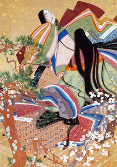 Matsuoka Eikyuu (1881-1938) 松岡映丘 Spring Scenery 春光春衣