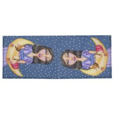 Fantasy Sleeping Crescent Moon Face Woman Tyvek Wallet