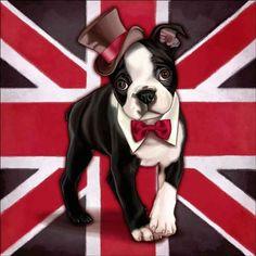Check out the deal on Cazenave British Dog Ceramic Accent & Decor Tile - MC2-006cAT at Artwork On Tile Online Storefront