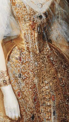 renaissance art The Makeup Brush phonelocks: gold painting details Gold Aesthetic, Aesthetic Painting, Princess Aesthetic, Classical Art, Detail Art, Historical Costume, Renaissance Art, Fashion History, Art History