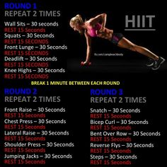 "High Intensity Interval Training: Get 2 workouts (cardio & weight training) at the same time. Stop the ""spot training"" (seriously, you're going to do side twists/bends and think that's going to get rid of bra fat? Get a full body workout with full Hitt Workout, Tabata Workouts, At Home Workouts, Hiit Workouts With Weights, Body Pump Workout, Interval Cardio, Weight Workouts, Workout Diet, Fitness Workouts"