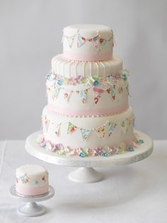 Ohhh! Sooo adorable!!! There is little banners on it! I am sooo doing this the next time I bake a cake! :)