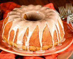 Pumpkin Cake with Cinnamon Glaze-this cake is crazy moist, super tender, and delicious! It starts with a box mix so really quick and easy to make!
