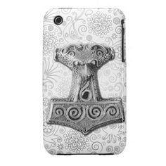Mjölnir in silver - iPhone Case 2 #pagan, #thor #mjolnir #thorshammer #silver #heathen #asatru #fornsidr #odinism #wotanism #theodism