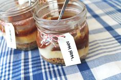 Salted Caramel Cheesecake.. in a Jar!