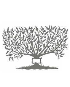 Giving Tree Family Tree- With its warm gray tone and beautiful details, this drawing by New York artist Melinda Beck has a sophisticated c...