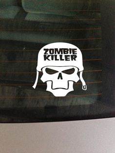 Zombie Killer Decal Car Window Sticker by GreenMountainVinyl, $4.00