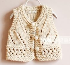 New Knitting Vest Kids Baby Sweaters Ideas Baby Knitting Patterns, Knitting Blogs, Knitting For Kids, Easy Knitting, Baby Cardigan, Cardigan Bebe, Pull Bebe, Knit Baby Sweaters, Baby Knits
