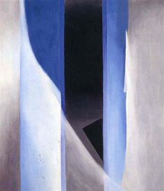 Blue 2 by Georgia O'Keeffe. Precisionism. abstract