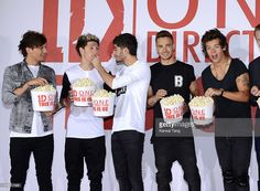 Louis Tomlinson, Niall Horan, Zayn Malik, Liam Payne and Harry Styles of One Direction attend a photocall to launch their new film 'One Direction: This Is Us 3D' held at the Blue Sky Studios on August 19, 2013 in London, England.