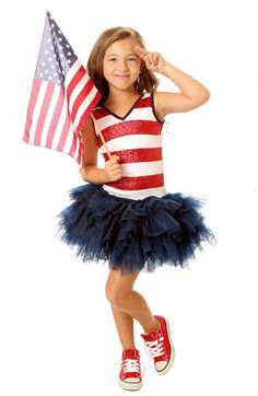 Ooh! La, La! Couture '4th of July' Sequin Stripe Dress (Toddler Girls, Little Girls & Big Girls) available at #Nordstrom