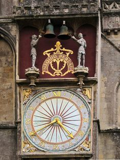 Wells Cathedral Clock, Somerset, England - has worked continuously since Big Clocks, Cool Clocks, Unusual Clocks, Medieval World, Medieval Art, Time Clock, Kirchen, Antiques, Somerset England
