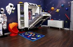 how to make a space themed bedroom
