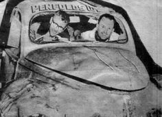 1954 RedEx Trial: George Reynolds' Peugeot 203 after a rollover Citroen Ds, Peugeot, Rally, Car, Photos, Automobile, Pictures, Autos, Cars
