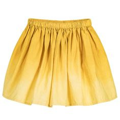 Moon et Miel - Girls Yellow Cotton Skirt | Childrensalon