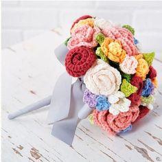 ramo de novia de crochet