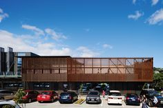 Vulcan Timber Screening in Manuka Finish Wellington New Zealand, Timber Screens, New Community, Facades, Entrance, Blade, Architecture, Wood, Outdoor Decor