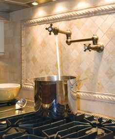 Pot filler and backsplash