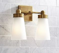 Double Bathroom Sconces & Frosted Glass Sconces | Pottery Barn