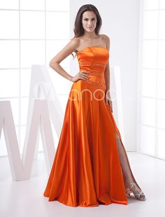 new arrival Quinceanera prom gowns shop Orange Evening Dresses, Orange Dress, Formal Evening Dresses, Strapless Prom Dresses, Wedding Dresses, Prom Gowns, Party Dress, Fashion Outfits, Satin