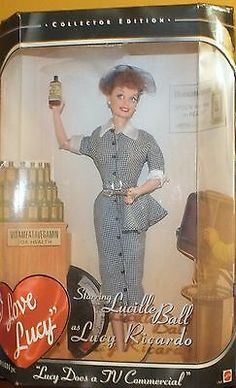 I Love Lucy Barbie Doll Lucille Ball Does A Commercial T love Celebrity Barbie Dolls, Barbie I, Barbie World, Barbie Clothes, Lucille Ball, I Love Lucy Dolls, Beautiful Barbie Dolls, Lucy And Ricky, Lucy Lucy
