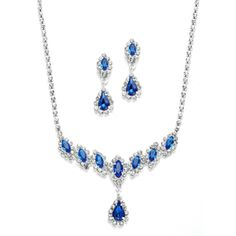 Bridesmaid Gifts - Mariell Royal Blue Bridesmaid Jewelry! affordableelegancebridal.com