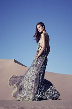 High fashion and the exquisite desert are a match made in heaven, see the full fashion shoot here: