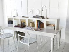 Multifunctional magic! Turn the LACK wall shelf on its side and you've got a clever storage system for your desk!
