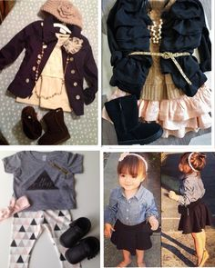 """Baby girl outfits! This satisfies my want to dress her in baby versions of what I'd wear myself instead of """"baby"""" clothes which I can't stand!!!"""