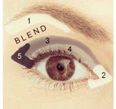 Easy Everyday Eyeshadow Tutorial for Hooded, Mature, Crepey Eyelids - new_make_up_pintennium Eyeshadow Guide, Blending Eyeshadow, How To Apply Eyeshadow, Eyeshadow Steps, Applying Eyeshadow, Eyeshadow Techniques, Eyeshadow Palette, Eye Shadow Blending, Eyeshadow Step By Step